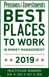 Pensions & Investments Best Places to Work 2019