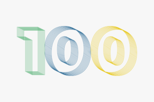 Graphic illustration of the number 100