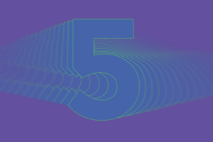 Graphic illustration of the number 5