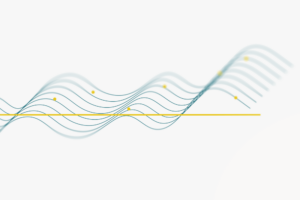 Wavy lines and yellow dots